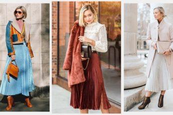 16 идей с чем носить юбку плиссе осенью 2021