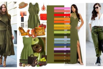 Как носить оливковый цвет - сочетания в одежде и стильные идеи