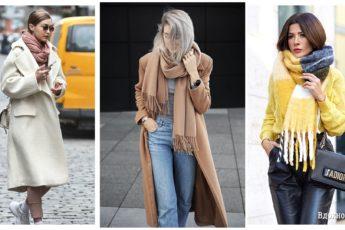 Как модно носить шарф: 16 стильных решений