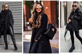 Total-black осень 2021: как стильно носить чёрный