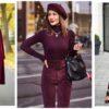 Цвет марсала одежде: как носить и с чем сочетать